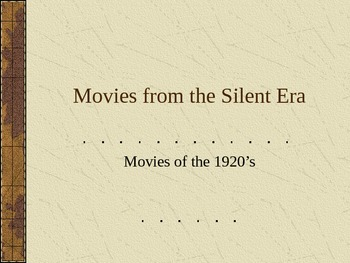 Movies from the Silent Era
