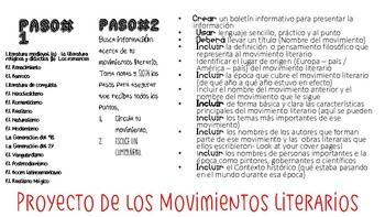Movimientos Literarios Project