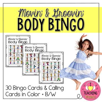 Movin' & Groovin' Body Bingo