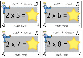 Movin' & Groovin' Multiplication Facts