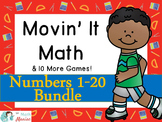 Movin' It Math BUNDLE Numbers 1-20: Subitizing, Comparing,