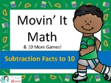 Movin' It Math Differences: Subtraction Facts to 10
