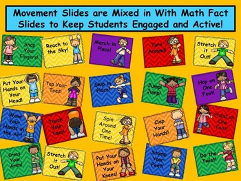 Movin' It Math Facts: Addition Facts Within 20