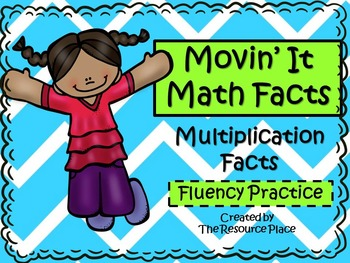 Movin' It Math Facts: Multiplication Facts