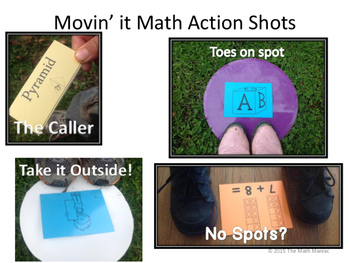Movin' It Math Identifying 2 and 3 Dimensional Shapes BUNDLE