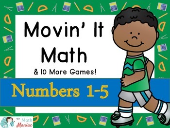 Movin' It Math Numbers 1-5: Number recognition, subitizing
