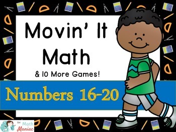 Movin' It Math Numbers 16-20: Subitizing, Comparing, Decomposing