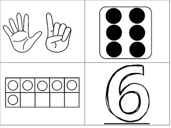 Movin' It Math Numbers 6-10: Number recognition, subitizing, comparing