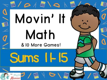 Movin' It Math Sums 11-15: Fluency With Addition Facts to Fifteen
