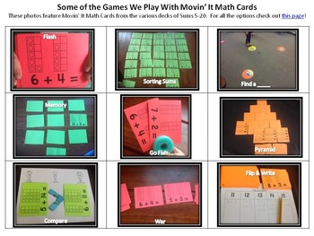 Movin' It Math Sums 16-20: Fluency With Addition Facts to Twenty