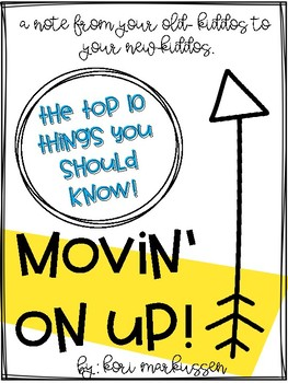 Movin' On Up! The top 10 things you should know about your new grade!