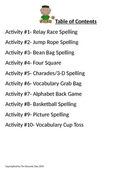 Movin' and Goovin'  with Spelling:Integrating Movement with Word Study