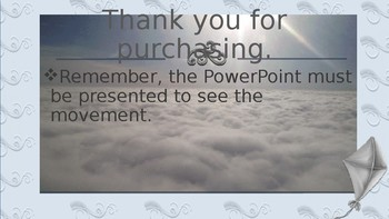 Moving Clouds Powerpoint Template Animated