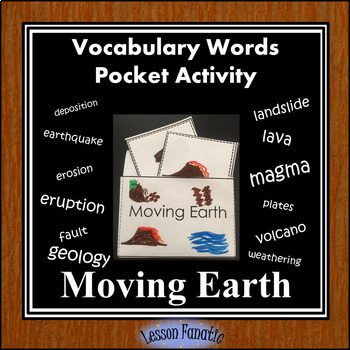 Moving Earth Vocabulary Pocket Activity with Definition and Word Wall Cards