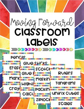 Moving Forward Classroom Labels