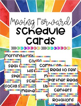 Moving Forward Schedule Cards