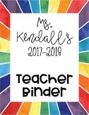Moving Forward Teacher Binder