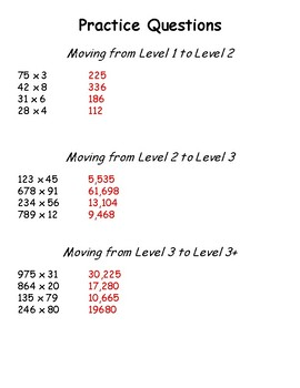 Moving Kids UP! Multiplying Whole Numbers