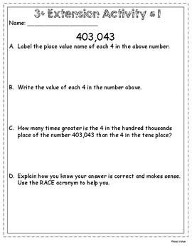 Moving Kids UP! Place Value