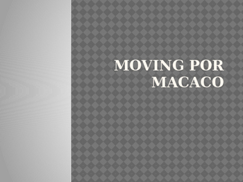 Moving - Macaco - Celebrities PowerPoint