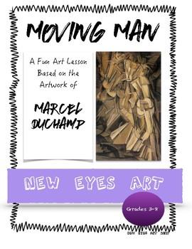 Moving Man Cubist Art History Lesson Activity