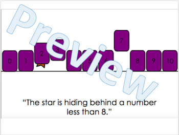 Moving Number Line- Interactive Pieces