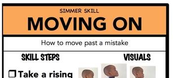 Moving On Social Skill Steps Poster - The Empower Program K-2