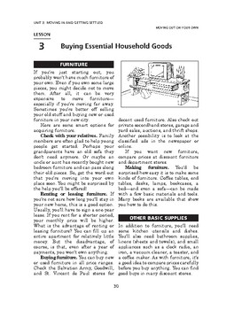 Moving Out on Your Own: Moving in & Getting Settled-Buying Essen Household Goods