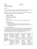 Moving, Relocation, and Immigration - IB Unit Plan