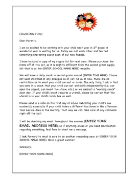 Moving Up Day Letter