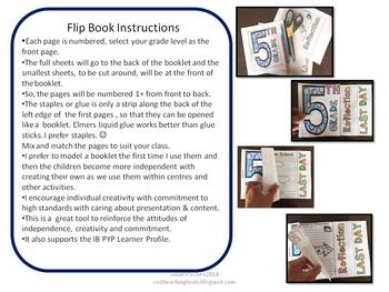 Moving Up! End of the Year Flip Flap Book for Grades 2 -5.