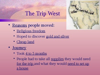 The Nation Grows - Moving West PowerPoint