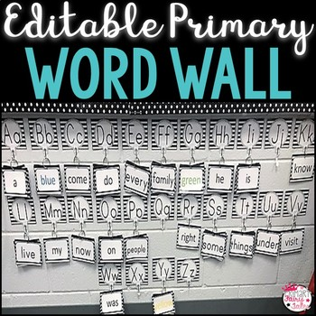 Black and White Primary Word Wall
