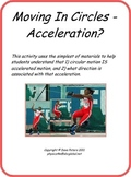 Moving in Circles - Acceleration?