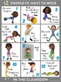Moving in the Classroom Visual Series-12 ENERGETIC Ways to