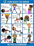 Moving in the Classroom Visual Series- 12 FUN Ways to Move