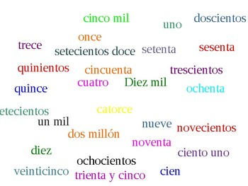 Moving matamoscas Spanish number words