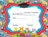 Moving on Ceremony Pre-K Certificate