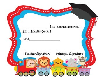 Moving on Kindergarten Ceremony Certificate with trains