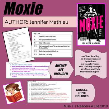 Moxie By Jennifer Mathieu Novel Unit