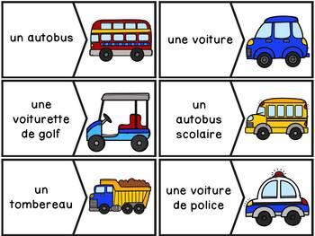 Moyens de transport - 40 puzzles (casse-tête) - French Transportation