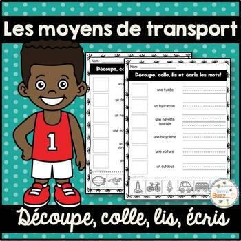 Moyens de transport - découpe et colle - French transportation