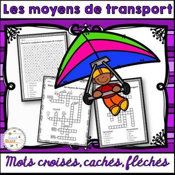 Moyens de transport - mots croisés, cachés, fléchés - French Transportation