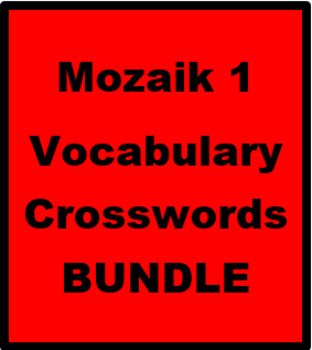 Mozaik 1 Vocabulary Crossword Bundle