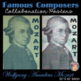 Mozart Collaboration Portrait Poster | Famous Musicians Series