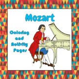 Mozart Coloring and Activity Book Pages - Good for Distanc