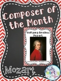 Mozart Composer of the Month Bulletin Board Set {Youtube links}