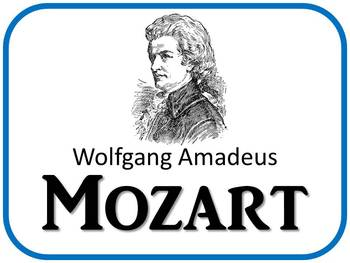 Mozart Composer of the Month (January) Bulletin Board