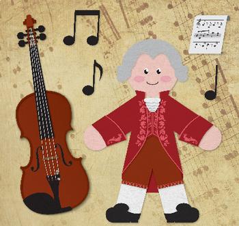 Mozart - Famous Composers Clip Art Set