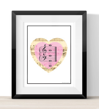 50 % off Mozart Heart Music Flashcards with bonus Happy Valentine's Day Cards